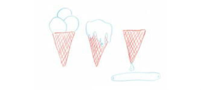 smeltend ijsje